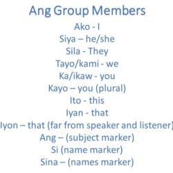 Ang Family in Tagalog