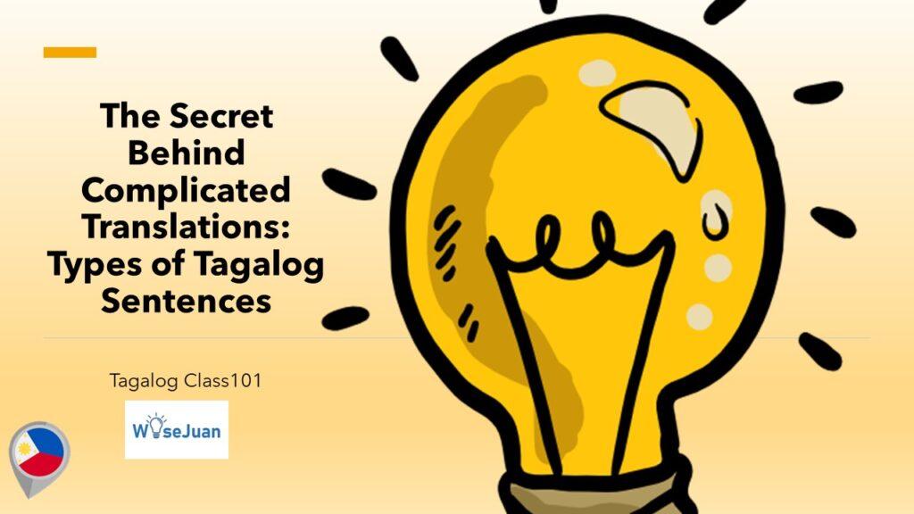 Types of Tagalog Sentences